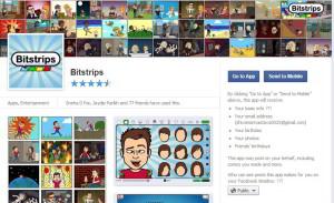 Bitstrips news feed